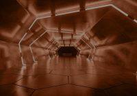 Túnel com luzes